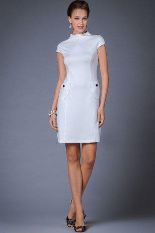 короткие прозрачные белые платья