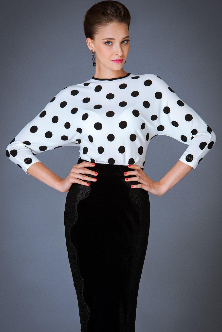 Блузка В Горошек Фото
